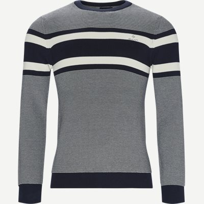 Breton Stripe Crew Knit Regular | Breton Stripe Crew Knit | Blå