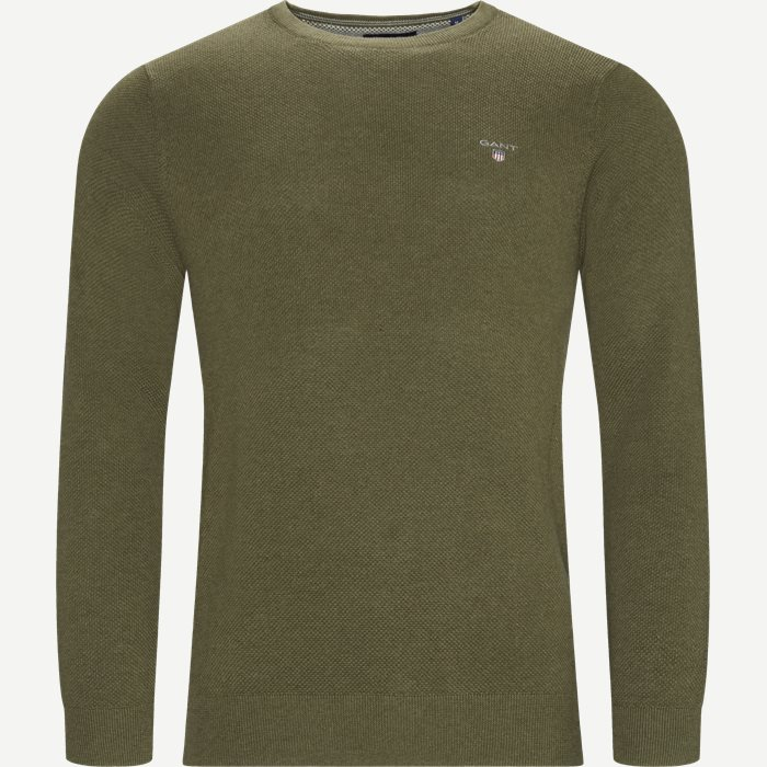 Cotton Pique Crew Strik - Strik - Regular - Army