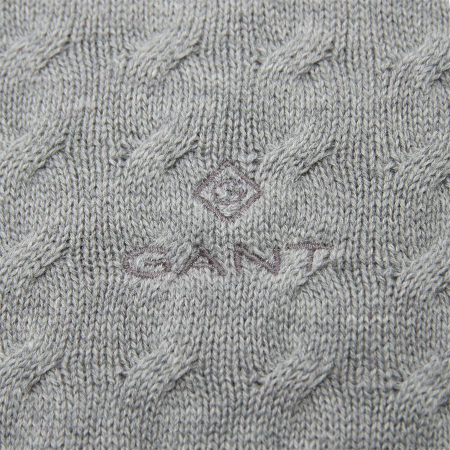 8030045 O1 FLAT CABLE CREW - Flat Cable Crew Knit - Strik - Regular - GRÅ - 3
