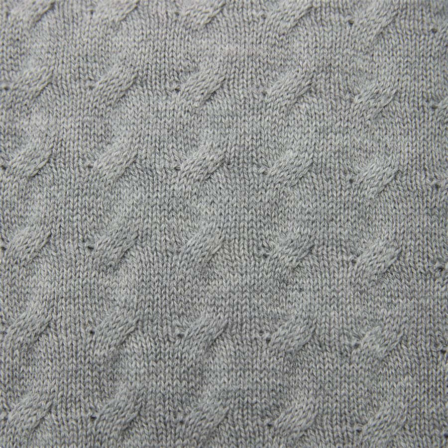 8030045 O1 FLAT CABLE CREW - Flat Cable Crew Knit - Strik - Regular - GRÅ - 6