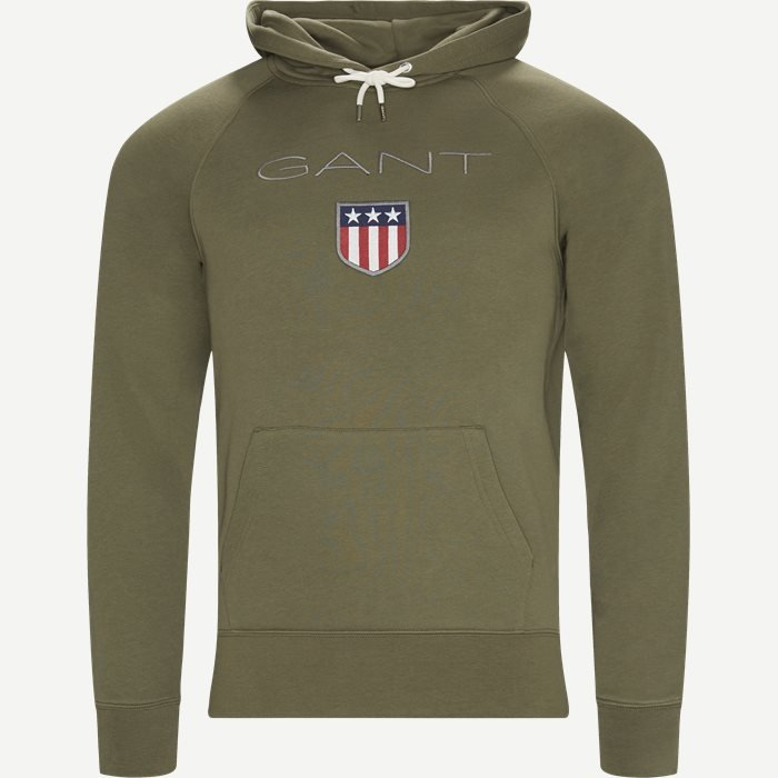 Shield Hoodie Sweatshirt - Sweatshirts - Regular - Army