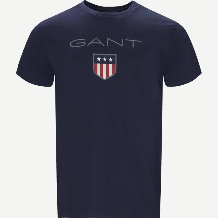 Shield SS T-shirt - T-shirts - Blå