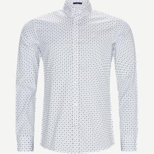 Micro Sport Print Slim Skjorte Slim | Micro Sport Print Slim Skjorte | Hvid