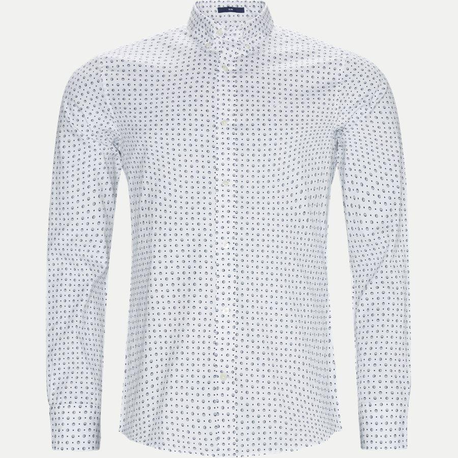 3002672 O2 MICRO SPORT PRINT SLIM - Micro Sport Print Slim Skjorte - Skjorter - Slim - HVID - 1