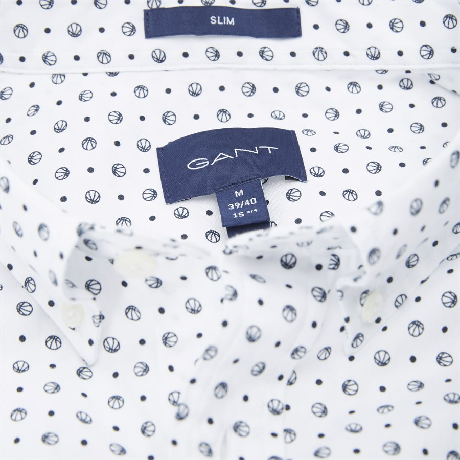 3002672 O2 MICRO SPORT PRINT SLIM - Micro Sport Print Slim Skjorte - Skjorter - Slim - HVID - 4
