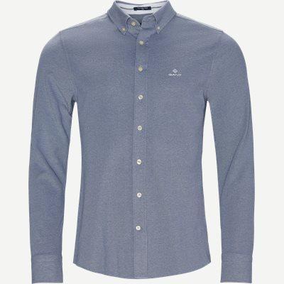 TP Pique Solid Slim BD Skjorte Slim | TP Pique Solid Slim BD Skjorte | Blå