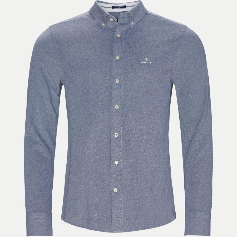 3002562 D1 PIQUE SOLID SLIM - TP Pique Solid Slim BD Skjorte - Skjorter - Slim - BLÅ - 1