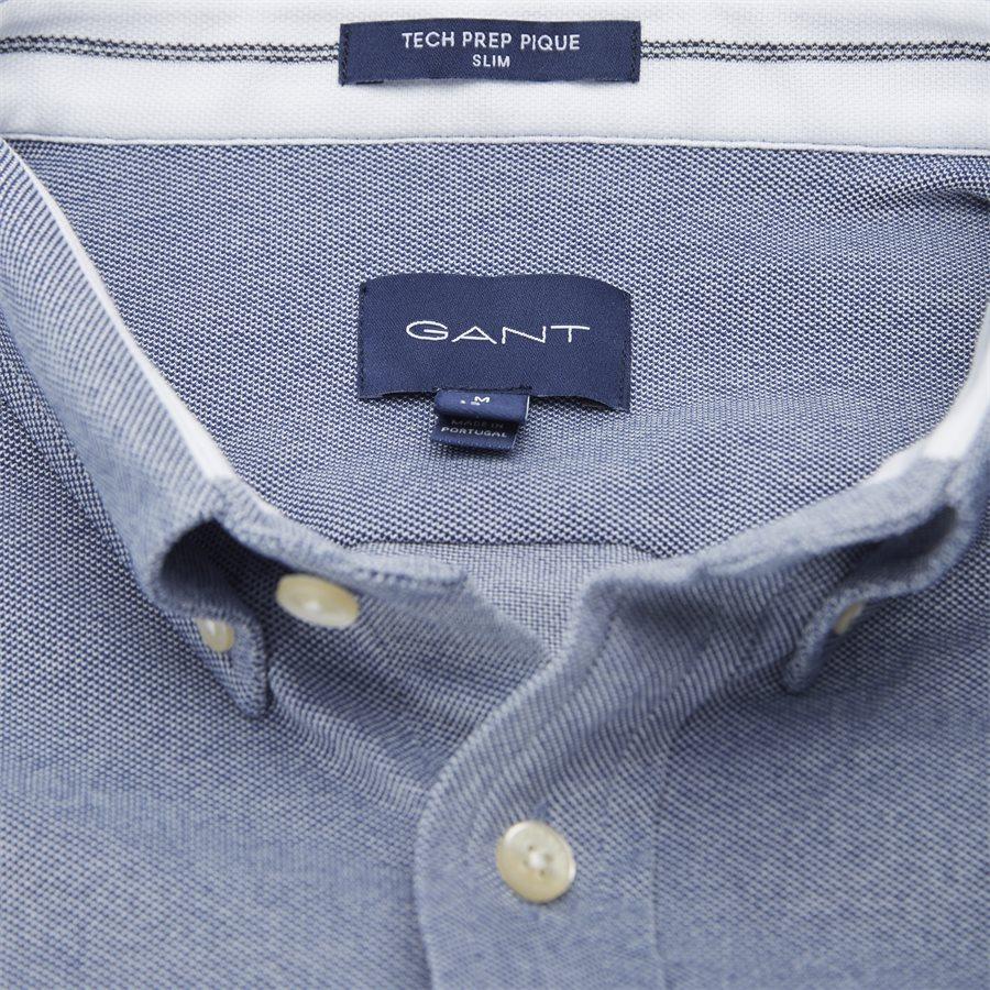 3002562 D1 PIQUE SOLID SLIM - TP Pique Solid Slim BD Skjorte - Skjorter - Slim - BLÅ - 7