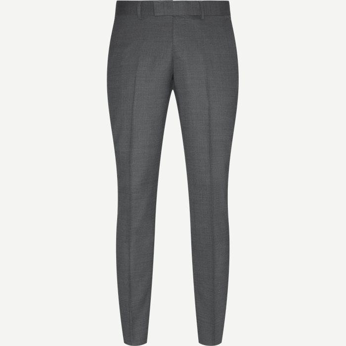 Trousers - Slim - Grey