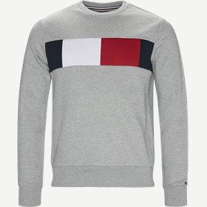 Flag Chest Logo Sweatshirt Regular | Flag Chest Logo Sweatshirt | Grå