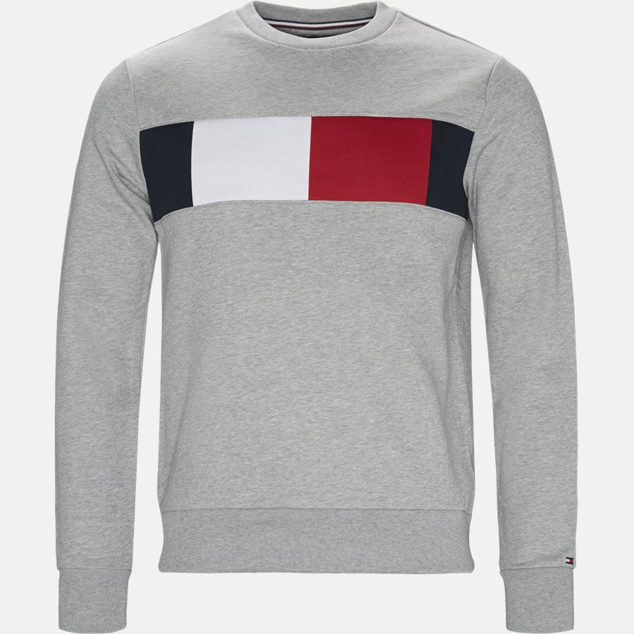 FLAG CHEST LOGO SWEATSHIRT - Flag Chest Logo Sweatshirt - Sweatshirts - Regular - GRÅ - 1