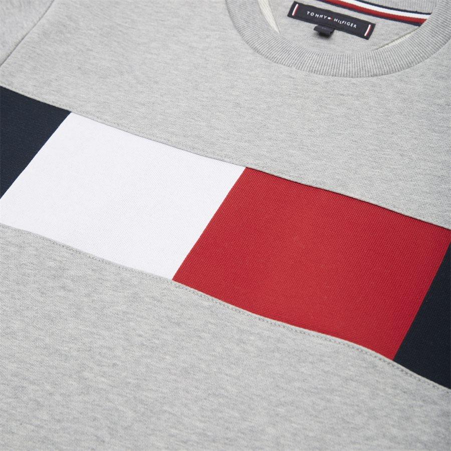 FLAG CHEST LOGO SWEATSHIRT - Flag Chest Logo Sweatshirt - Sweatshirts - Regular - GRÅ - 4