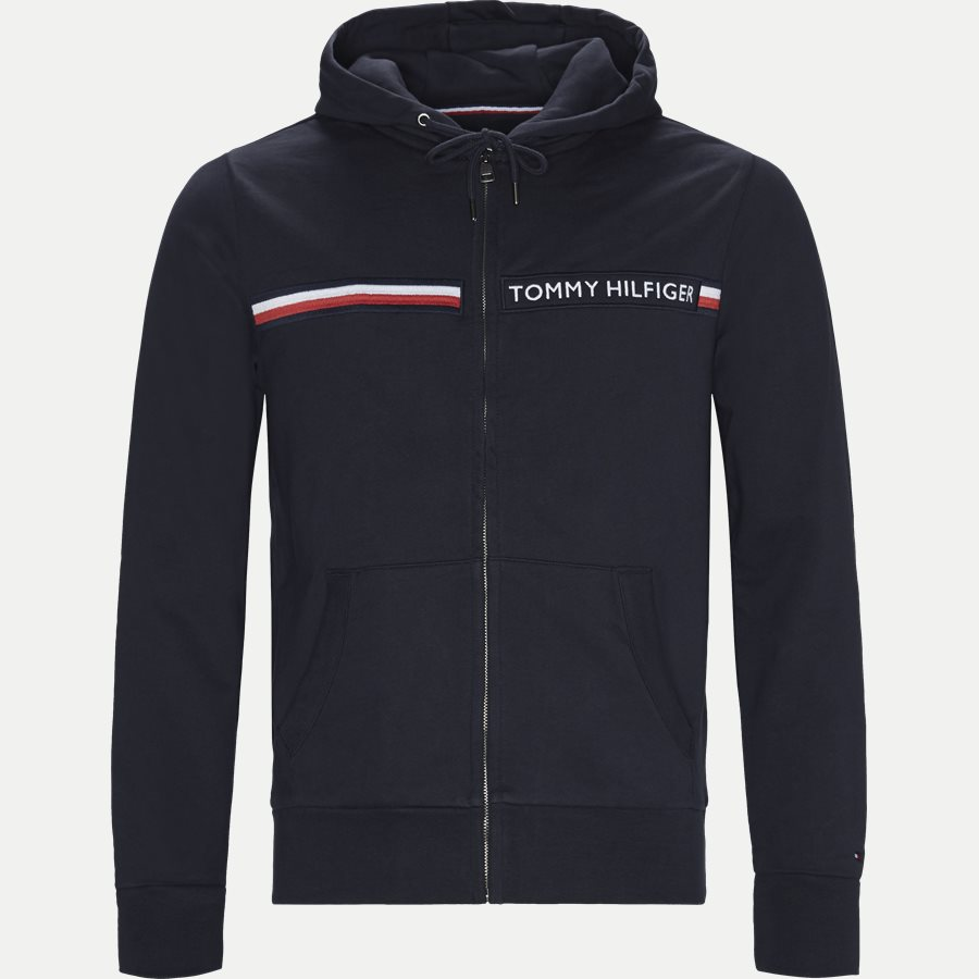 TOMMY LOGO ZIP HOODY - Logo Zip Hoodie - Sweatshirts - Regular - NAVY - 1