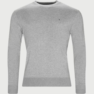 Cotton Silk Crew Neck Knit Regular | Cotton Silk Crew Neck Knit | Grå