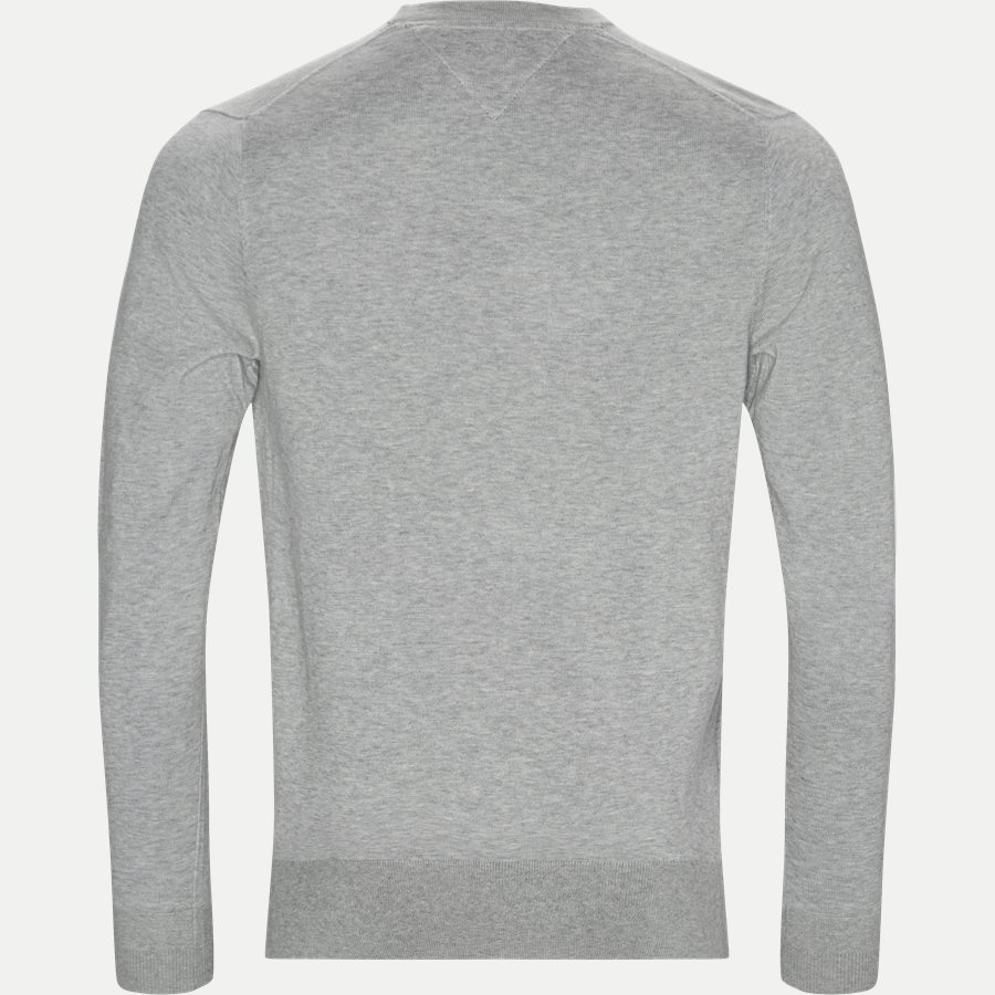 COTTON SILK CREW NECK - Cotton Silk Crew Neck Knit - Strik - Regular - GRÅ - 2