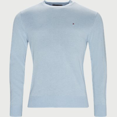Cotton Silk Crew Neck Knit Regular | Cotton Silk Crew Neck Knit | Blå