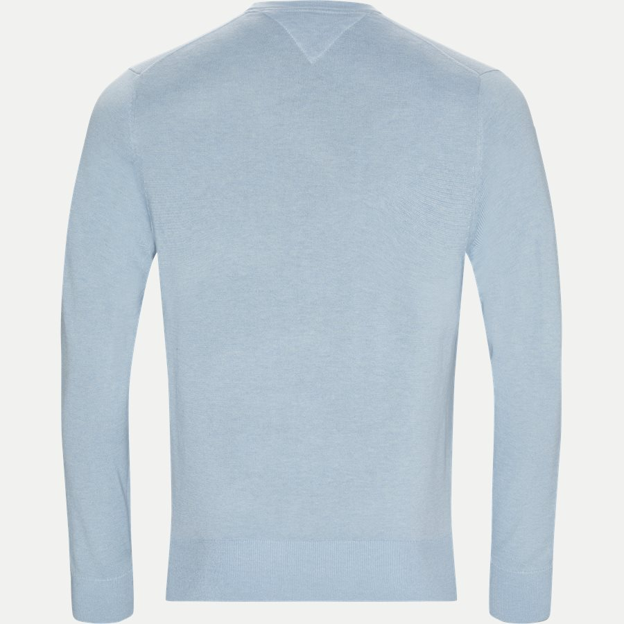 COTTON SILK CREW NECK - Cotton Silk Crew Neck Knit - Strik - Regular - LYSBLÅ - 2