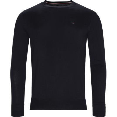Cotton Silk Crew Neck Knit Regular | Cotton Silk Crew Neck Knit | Blå
