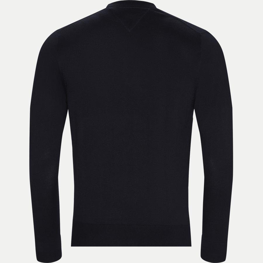 COTTON SILK CREW NECK - Cotton Silk Crew Neck Knit - Strik - Regular - NAVY - 2