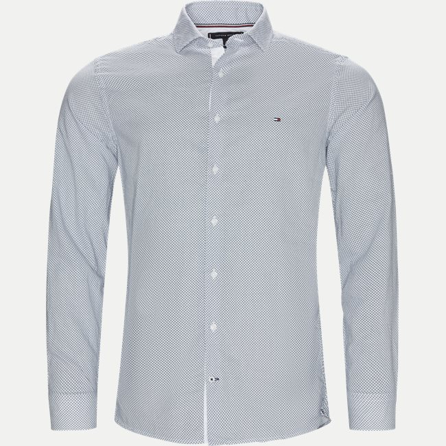 Slim Cotton Linen Printed Shirt