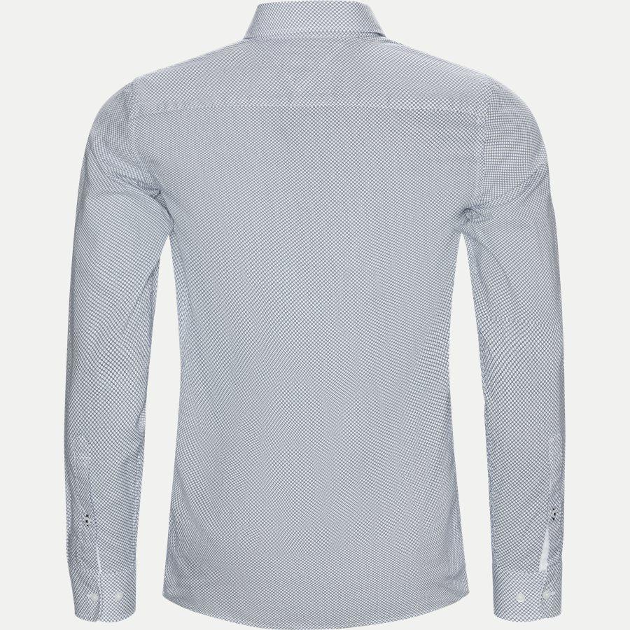 SLIM COTTON LINEN PRINTED SHIRT - Slim Cotton Linen Printed Shirt - Skjorter - Slim - BLÅ - 2