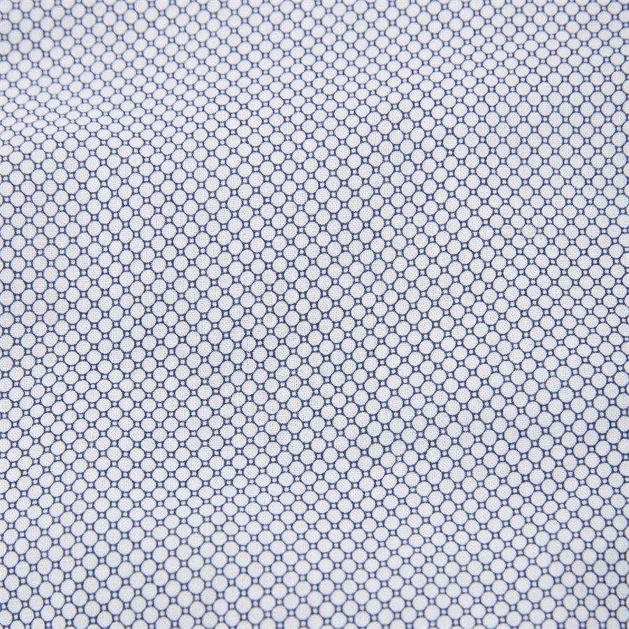 SLIM COTTON LINEN PRINTED SHIRT - Slim Cotton Linen Printed Shirt - Skjorter - Slim - BLÅ - 4