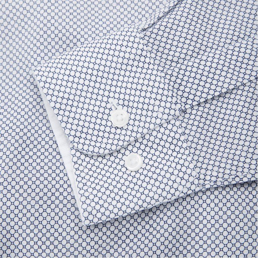 SLIM COTTON LINEN PRINTED SHIRT - Slim Cotton Linen Printed Shirt - Skjorter - Slim - BLÅ - 6