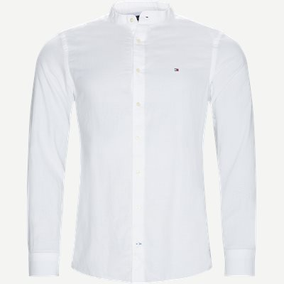 Mandarin Collar Shirt Slim | Mandarin Collar Shirt | Hvid
