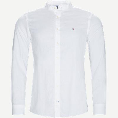 Mandarin Collar Shirt Slim | Mandarin Collar Shirt | Hvid