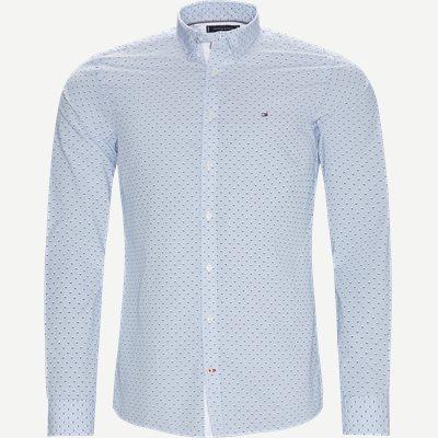 Slim Micro Print Shirt Skjorte Slim | Slim Micro Print Shirt Skjorte | Blå