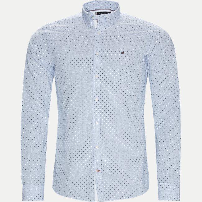 Slim Micro Print Shirt Skjorte