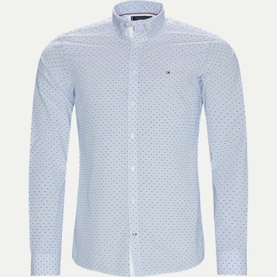 SLIM MICRO PRINT SHIRT - Slim Micro Print Shirt Skjorte - Skjorter - Slim - BLÅ - 1