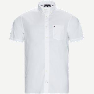 Stretch Poplin Shirt S/S Kortærmetskjorte Regular   Stretch Poplin Shirt S/S Kortærmetskjorte   Hvid