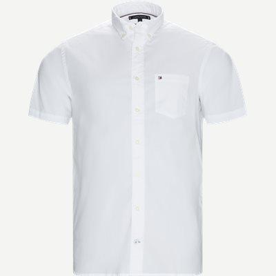 Stretch Poplin Shirt S/S Kortærmetskjorte Regular | Stretch Poplin Shirt S/S Kortærmetskjorte | Hvid