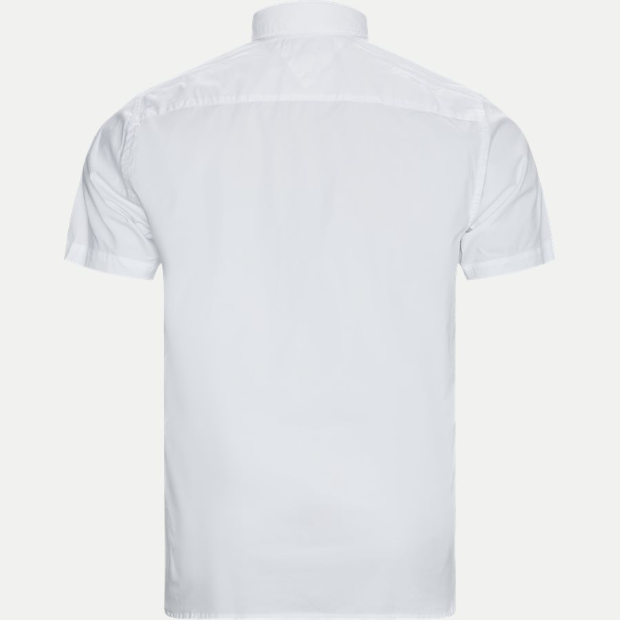 STRETCH POPLIN SHIRT S/S - Stretch Poplin Shirt S/S Kortærmetskjorte - Skjorter - Regular - HVID - 2