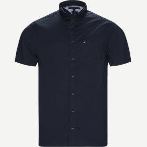 Stretch Poplin Shirt S/S Kortærmetskjorte Regular   Stretch Poplin Shirt S/S Kortærmetskjorte   Blå
