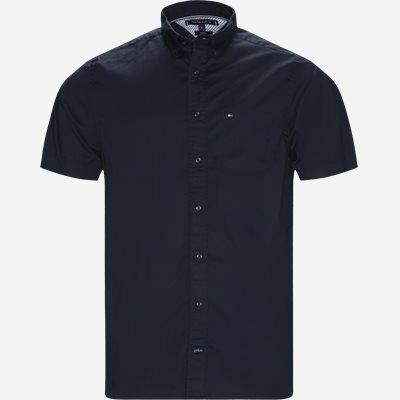 Stretch Poplin Shirt S/S Kortærmetskjorte Regular | Stretch Poplin Shirt S/S Kortærmetskjorte | Blå
