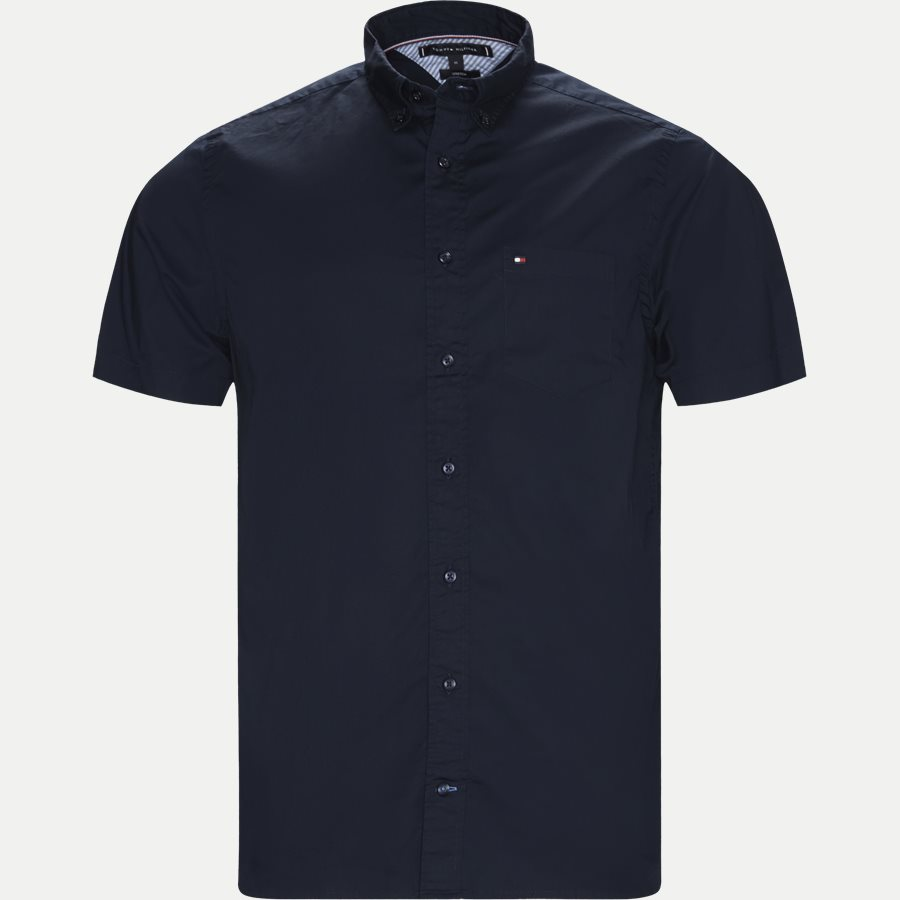 STRETCH POPLIN SHIRT S/S - Stretch Poplin Shirt S/S Kortærmetskjorte - Skjorter - Regular - NAVY - 1