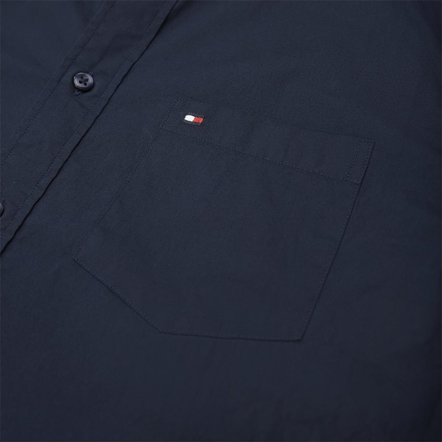 STRETCH POPLIN SHIRT S/S - Stretch Poplin Shirt S/S Kortærmetskjorte - Skjorter - Regular - NAVY - 3