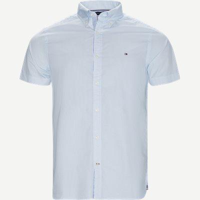 Slim Mini Print Shirt S/S Kortærmet Skjorte Slim | Slim Mini Print Shirt S/S Kortærmet Skjorte | Blå