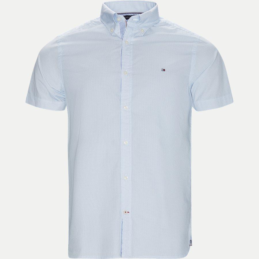 SLIM MINI PRINT SHIRT S/S - Slim Mini Print Shirt S/S Kortærmet Skjorte - Skjorter - Slim - BLÅ - 1