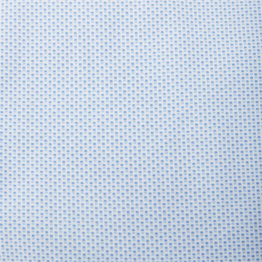 SLIM MINI PRINT SHIRT S/S - Slim Mini Print Shirt S/S Kortærmet Skjorte - Skjorter - Slim - BLÅ - 4