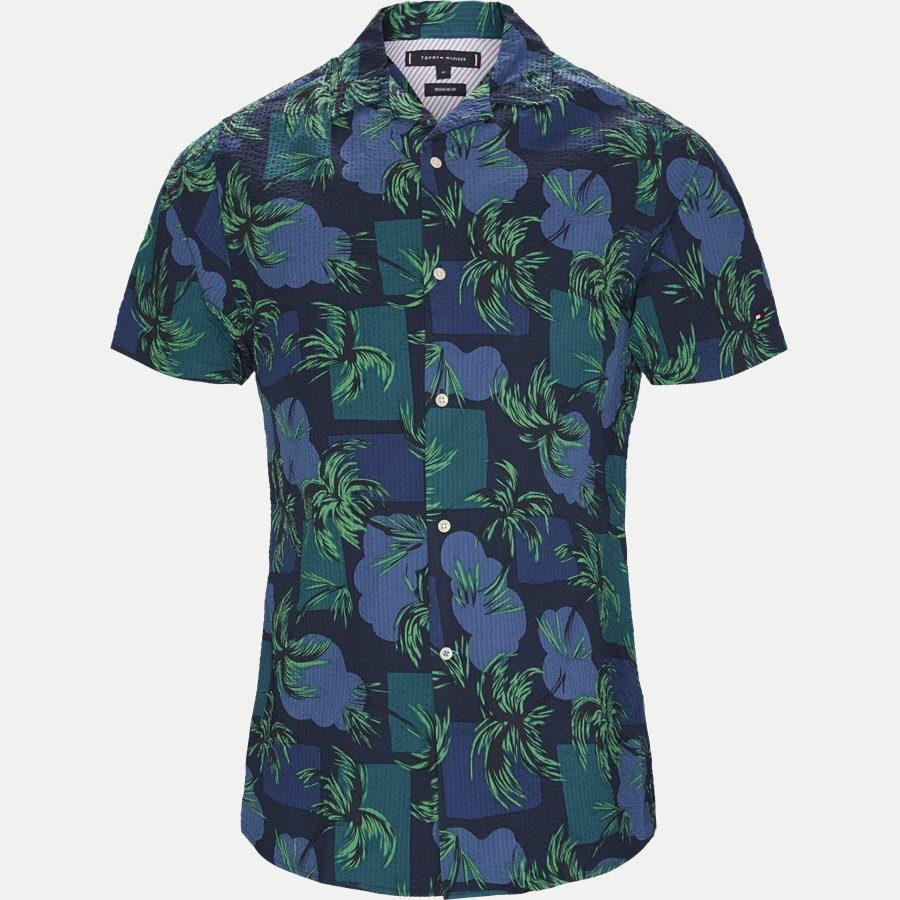 PALM TREE PRINT SHIRT S/S - Palm Tree Print Shirt - Skjorter - Regular - NAVY - 1