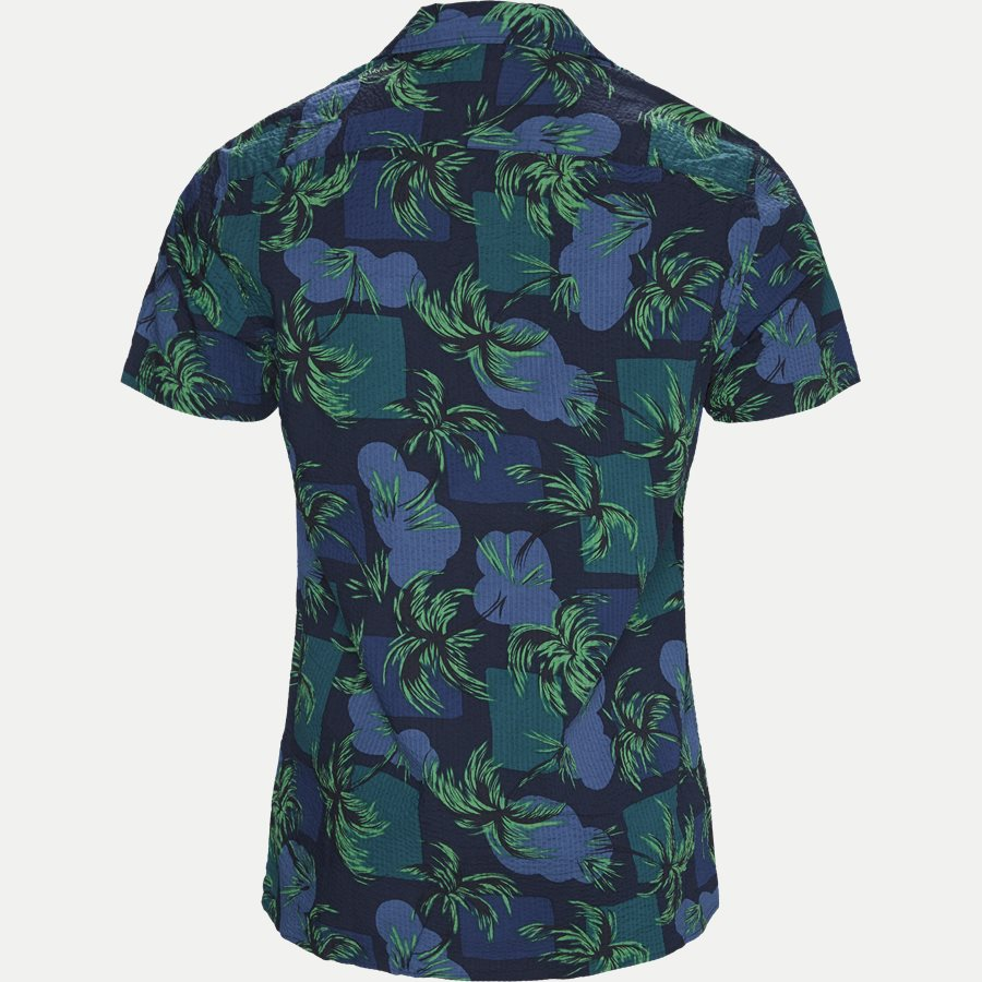 PALM TREE PRINT SHIRT S/S - Palm Tree Print Shirt - Skjorter - Regular - NAVY - 2