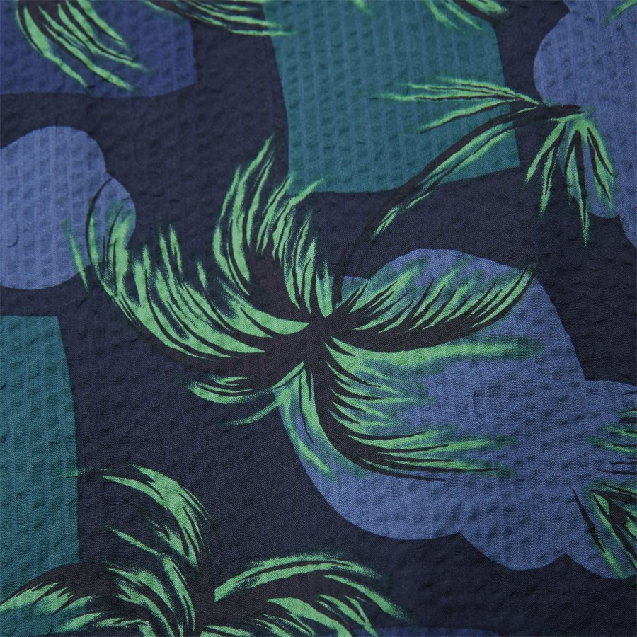PALM TREE PRINT SHIRT S/S - Palm Tree Print Shirt - Skjorter - Regular - NAVY - 5