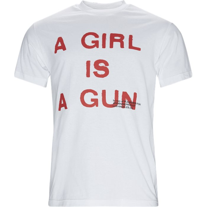Girl Is A Gun Tee - T-shirts - Regular - Hvid