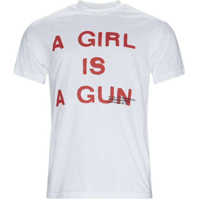 Billede af Pleasures Now Girl Is A Gun Tee Hvid