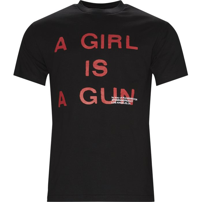 Girl Is A Gun Tee - T-shirts - Regular - Sort