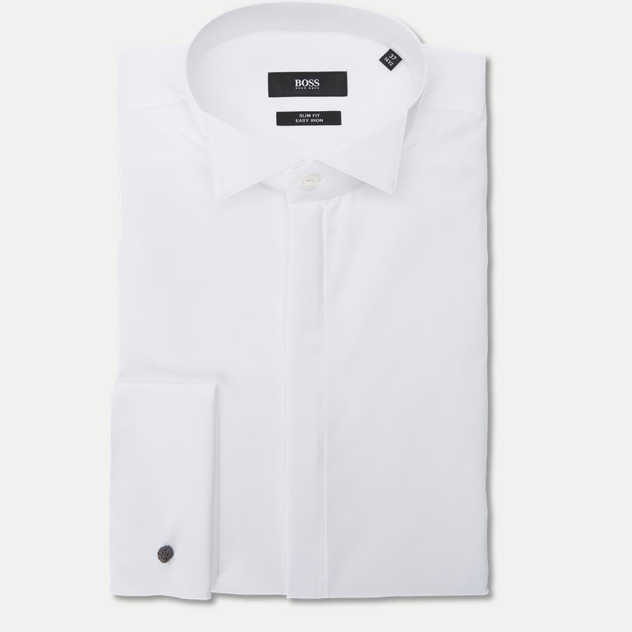 50327676 JILLIK - Jillik Smoking Skjorte - Skjorter - Slim - HVID - 1