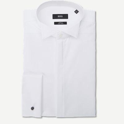 Jillik Smoking Skjorte Slim | Jillik Smoking Skjorte | Hvid